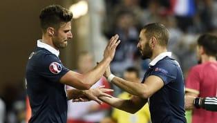 """Pour RMC Sport, l'attaquant de l'Equipe de France est revenu sur sa rivalité """"forcée"""" avec le buteur du Real Madrid. Opposé à Karim Benzema, absent depuis..."""