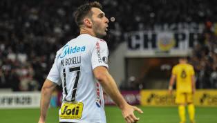"""Após ficar fora de seis partidas, realizar trabalhos de recuperação física e fazer """"chamada"""" para retorno, Mauro Boselli está 100% recuperado de dores na..."""