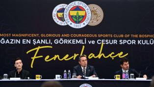 Bei der offiziellen Vorstellung von Mesut Özil bei Fenerbahçe Istanbul überboten sich Präsident Ali Koc und Sportdirektor Emre Belözoglu gegenseitig mit...