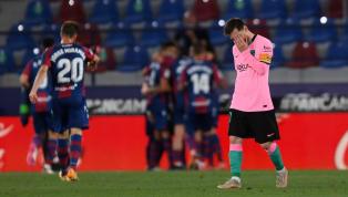 El inicio fue fulgurante, pero tras los primeros diez minutos el Levante se adueñó del encuentro. Cuando peor lo estaba pasando el equipo culé, Messi adelantó...