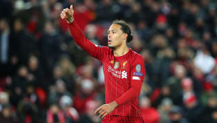 Virgil van Dijk has shown off his distribution skills by elegantly bending a ball into an empty net from a seemingly impossible angle at Liverpool's training...