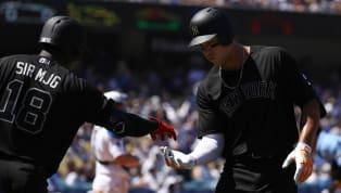 Los Yankees de Nueva York establecieron este domingo ante los Dodgers de Los Angeles un récord de jonrones conectados en un mes en la historia de la MLB con...