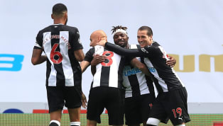 ades Newcastle returned to Premier League action at an empty St James' Park with a thumping 3-0 victory over ten-man Sheffield United on Sunday afternoon. The...