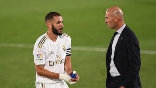 """Blessé à une cheville et incertain à trois jours du rendez-vous européen face à l'Atalanta Bergame, Karim Benzema ne fera l'objet """"d'aucun risque"""" pour..."""