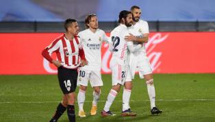 El conjunto blanco consiguió los tres puntos frente al Athletic Club en un partido bastante gris pese al resultado, que pudo ser muy diferente en la última...