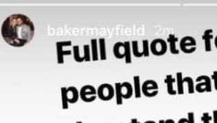 You just knew there would be more to this story than originally reported. On Tuesday morning, Cleveland Browns QB Baker Mayfield became the most hated man in...