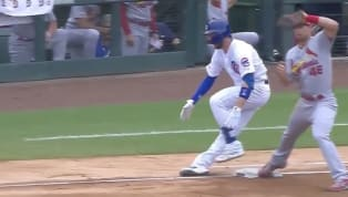 This is just about the last thing a Cubs fan would want to see at any time, much less at a time in which a playoff spot suddenly feels so elusive. Running out...