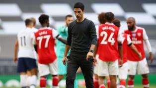 Arsenal mendapatkan kekalahan dengan skor 1-2 kontra Tottenham Hotspur. Pertandingan di Tottenham Hotspur Stadium dalam laga pekan ke-35 Liga Inggris 2019/20...