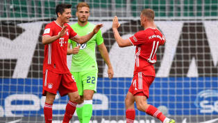 tyle Bayern Munich rounded off another victorious Bundesliga campaign with an emphatic 4-0 win over Wolfsburg at the Volkswagen Arena, with the home side...