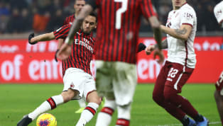 İtalya Kupası çeyrek final turu mücadelesinde Milan ile Torino'nun randevusu nefesleri keserken, oyuna sonradan dahil olan milli futbolcu Hakan Çalhanoğlu...