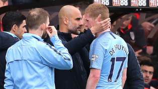 lash ​Manchester City manager Pep Guardiola has confirmed that Kevin De Bruyne, John Stones and Fernandinho will all miss this weekend's Premier League clash...