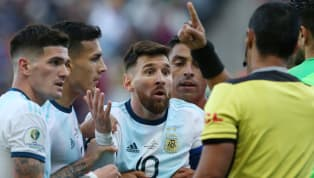 Argentina captain Lionel Messi was controversially sent off in his country's Copa America third-place playoff clash with Chile after clashing with Gary...