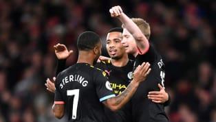 Một hiệp 1 kinh hoàng của Arsenal, Manchester City có bàn thứ 3 vào lưới Leno nhờ công của Kevin de Bruyne. Cầu thủ người Bỉ sút xa đẳng cấp không cho đối...