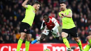 Phút 69, Nicolas Pepe đi bóng đầy tốc độ vào vòng cấmSheffield United, anh bị trung vệJack O'Connell đốn ngã. Pha quay chậm cho thấyStevens đã giơ chân...