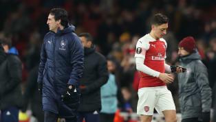 """Lại lần nữa, Pháo thủ vấp ngã khi Mesut Ozil không góp mặt trong đội hình, HLV Unai Emery đã nói gì? Emery on Ozil's absence after losing to BATE: """"Last week..."""