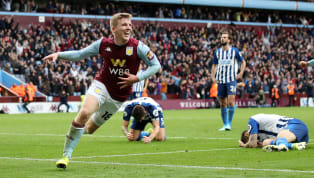 ulls Matt Targett fired home a stoppage-time winner to give Aston Villa all three points against a resolute Brighton side, who played more than half of the...