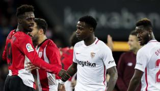 Sevilla: Soriano; Mercado, Roque Mesa,Gnagnon;Aleix Vidal;Amadou,Promes, Franco Vázquez, Carriço, Gnagnon: Munir  XI del #SevillaFC  @AthleticClub....