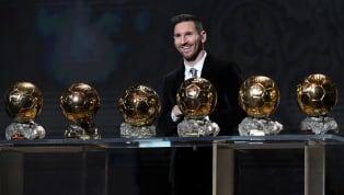 Total sudah enam trofi Ballon d'Or yang berada dalam genggaman penyerang Barcelona, Lionel Messi. Ballon d'Or keenamnya diraih pada tahun 2019 ini, empat...