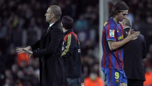 """Consolidado, Pep Guardiola foi o responsável pelo Barcelona investir em vários atletas entre 2008 e 2012, quando era técnico da equipe, sendo o """"mandachuva"""" e..."""