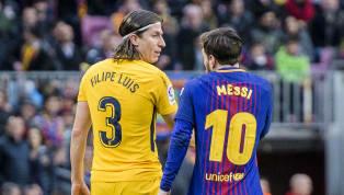 Bek Atletico Madrid, Filipe Luis bela pemain Barcelona, Lionel Messi yang dianggap layak memenangkanBallon d'Or 2018, meskipun rivalitas keduanya di atas...