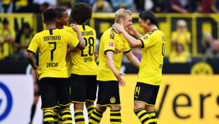 ho Shine Borussia Dortmund capitalised on rivals Bayern Munich dropping points on Friday with a dominant 5-1 win over ​Augsburg at the Signal Iduna Park, to...