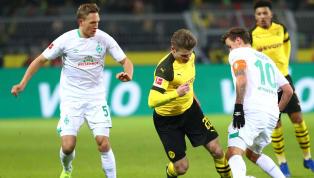 BVB Unsere Start-1️⃣1️⃣ gegen @werderbremen: Oelschlägel - Hakimi, Weigl, Toprak, Diallo - Witsel, Delaney - Pulisic, Reus, Guerreiro - Götze #BVBSVW...