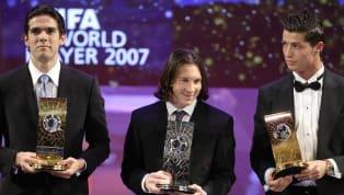 Se há uma pessoa que tem moral para entrar no debateCristiano RonaldoxLionel Messi, esta pessoa é Kaká. O brasileiro foi o único que bateu os dois...