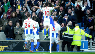iers Brighton beatHuddersfield 1-0 at the Amex Stadium ina cagey encounter which gave Chris Hughton's men a huge lift in their bid to avoid relegation....