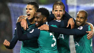 ulls Tottenham bounced back from midweek defeat against Inte with a scrappy win against Chris Hughton's Brighton at a rain-soaked Amex.  In a first half...