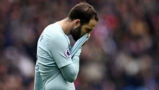 Gonzalo Higuain hat sein Glück weder beiJuventus Turin, noch beim AC Mailand gefunden. Und auch beimFC Chelsealäuft es für den Argentinier nicht...