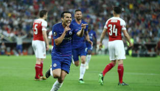 Winger Chelsea,Pedro Rodriguez mencetak gol kedua The Blues di laga final Europa League kontra Arsenal di Stadion Olimpiade Baku, Azerbaijan. Sebelumnya...
