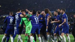 Chelseaakhirnya berhak menantang Arsenal di laga final Europa League 2019, seusai mengalahkan Eintracht Frankfurt melalui adu drama penalti. Kepa...
