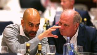 Bayern MünchensPräsident Uli Hoeneß kennt Pep Guardiola aus der gemeinsamen Zeit bestens. Dort gewann man unter dem spanischen Trainer von 2013 bis 2016...