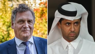 O presidente/dono do Paris Saint-Germain, Nasser Al-Khelaifi, foi acusado de subornar o ex-secretário-geral da Fifa Jérôme Valcke em troca dos direitos de...
