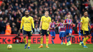 ers Draw Pierre-Emerick Aubameyang scored andwas sent off asArsenal were forced to hold on to a draw against Crystal Palace, where Jordan Ayew's deflected...