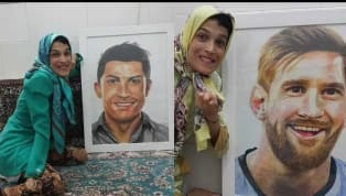A specially abled Iranian artist, went ahead and painted two portraits, one each of Lionel Messi and Cristiano Ronaldo, by using JUST her right foot. Ronaldo...