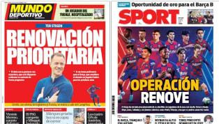 El conjunto azulgrana tiene su columna vertebral notablemente envejecida, tal y como demuestran las edades de futbolistas importantes como Gerard Piqué (33),...