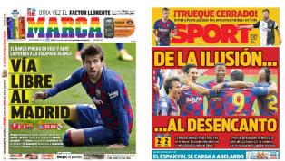 El empate (2-2) del FC Barcelona en su visita al Celta de Vigo es la principal noticia en la prensa deportiva escrita en España, puesto que permitiría al Real...