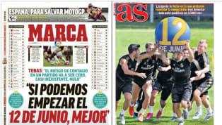 La semana comienza con la posibilidad de que, en un mes y un día, pueda plantearse el día concreto para que vuelva la máxima competición del fútbol español....