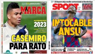 El último miércoles de mayo da protagonismo a la extensión del contrato del pivote brasileño con el Real Madrid hasta 2023 y el peso que se prevé que tenga el...