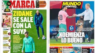 Las portadas del 17 de septiembre destacan la victoria del Barcelona en su amistoso contra el Girona con Messi como el actor principal y la salida de Bale del...