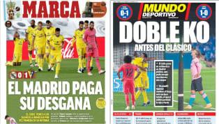 Por primera vez desde 2015 que el Real Madrid y el Barcelona pierden en la misma jornada de LaLiga y los diarios deportivos hicieron eco al respecto. 1. MARCA...