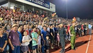 Liên đoàn bóng đá Việt Nam (VFF) mới đây đã công bố án phạt dành cho Hồng Lĩnh Hà Tĩnh vì đã để khán giả tràn xuống sân trong trận đấu với Hà Nội tại vòng 4...