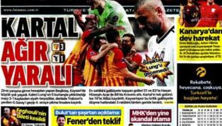 Beşiktaş'ın Hes Kablo Kayserispor deplasmanındaki 3-1'lik yenilgisi gazetelerde ağırlıklı olarak yer bulmuş durumda. Fenerbahçe'nin Gençlerbirliği deplasmanı...