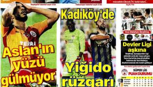 Galatasaray'ın Ankaragücü deplasmanındaki 1-0'lık yenilgisi ve Fenerbahçe'nin Demir Grup Sivasspor karşısındaki 2-1'lik mağlubiyeti gazetelerde ağırlıklı...