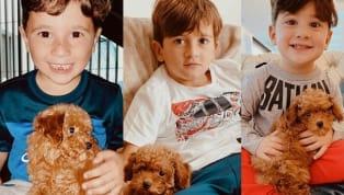 La familia de Lionel Messi presentó en sociedad a Abú, el nuevo canino. Los tres hijos del astro argentino se fotografiaron junto a él mientras su padre...