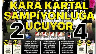 Beşiktaş'ın Büyükşehir Belediye Erzurumspor deplasmanında elde ettiği 4-2'lik galibiyet gazetelerde ağırlıklı olarak yer buldu. Haftanın ilk gününde öne çıkan...