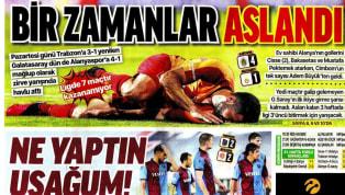 Trabzonspor'un Fraport TAV Antalyaspor ile 2-2 berabere kalması ve Galatasaray'ın Aytemiz Alanyaspor deplasmanındaki 4-1'lik yenilgisi gazetelerde ağırlıklı...