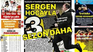 Süper Lig'in 11. hafta karşılaşmaları öncesindeki gelişmeler gazetelerde ağırlıklı olarak yer bulmuş durumda. Salı gününün öne çıkan haber başlıkları şu...