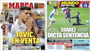 """1. Marca: """"Jovic en Venta"""" El diario MARCA abre su tirada de hoy con una noticia que emana del Real Madrid: """"Jovic está en venta"""". Mal rendimiento del serbio..."""